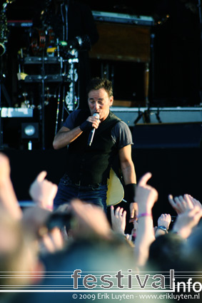Bruce Springsteen op Pinkpop 2009 foto