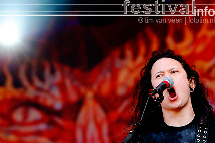 Foto Trivium op Wâldrock 2009