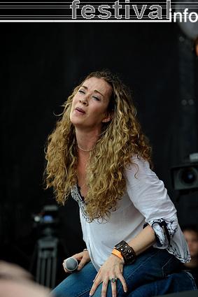 Dana Fuchs op Parkpop 2009 foto