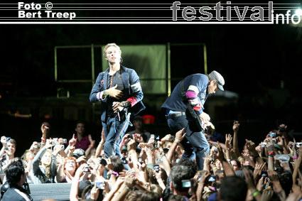 Coldplay op Rock Werchter 2009 foto