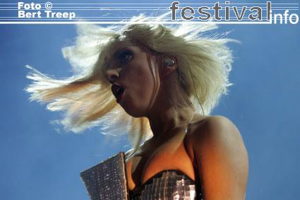 Lady Gaga op Rock Werchter 2009 foto