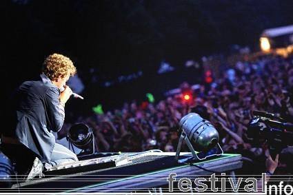 Foto Coldplay op Roskilde 2009