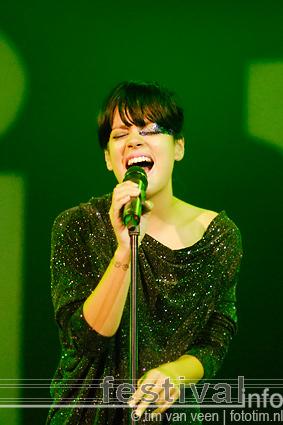 Lily Allen op Lowlands 2009 foto