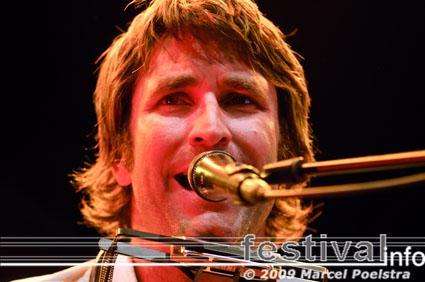 Foto Pete Murray op Huntenpop 2009