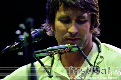 Foto Pete Murray op Huntenpop 2009