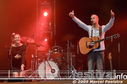 Milow op Appelpop 2009 foto