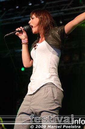Marike Jager op Appelpop 2009 foto