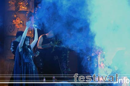 Foto Within Temptation op Ajoc Festival 2005
