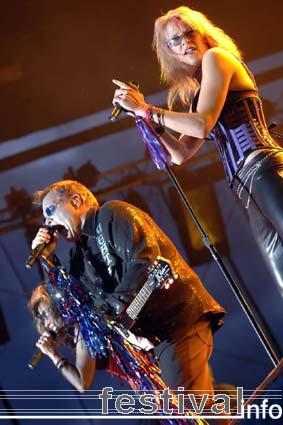 Meat Loaf op Arrow Rock 2005 foto