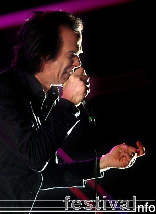 Nick Cave op Pukkelpop 2005 foto