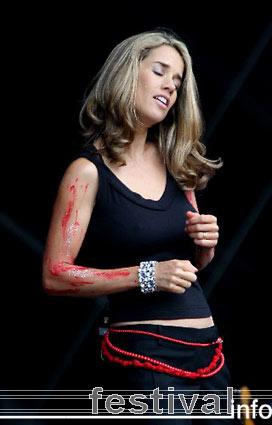 Heather Nova op Pukkelpop 2005 foto