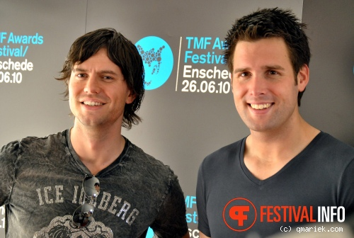 Foto Nick & Simon op TMF Awards 2010