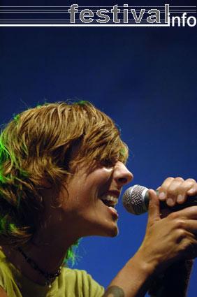 Sarah Bettens op Huntenpop 2005 foto