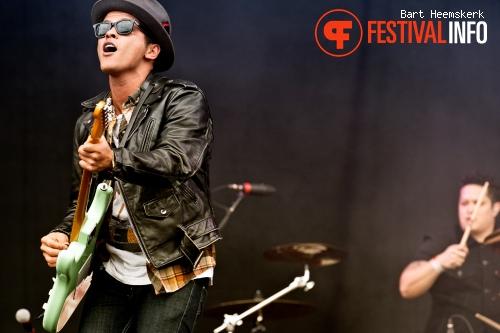 Bruno Mars op Rock Werchter 2011 foto