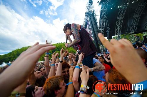 Bring Me The Horizon op Sonisphere France 2011 foto