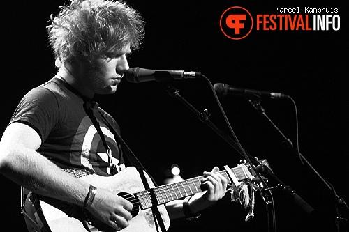 Ed Sheeran op Crossing Border Antwerpen 2011 foto