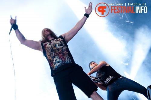 Unearth op Graspop Metal Meeting 2012 foto