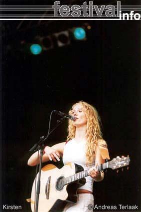 Foto Kirsten op Parkpop 2002 Foto's