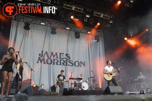 Foto James Morrison op Suikerrock 2013