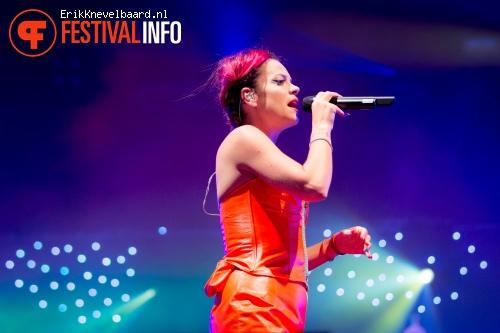 Lily Allen op Indian Summer Festival 2014 foto
