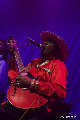 Foto Eddy Clearwater op Bluesfestival Hoogeveen 2014