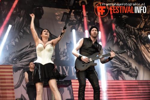 Foto Within Temptation op Graspop Metal Meeting 2015