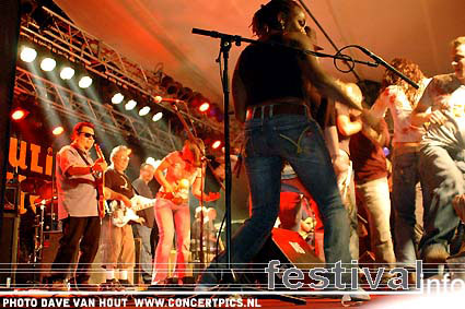 Los Lobos op Moulin Blues 2007 foto