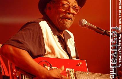 Bo Diddley op Moulin Blues 2007 foto