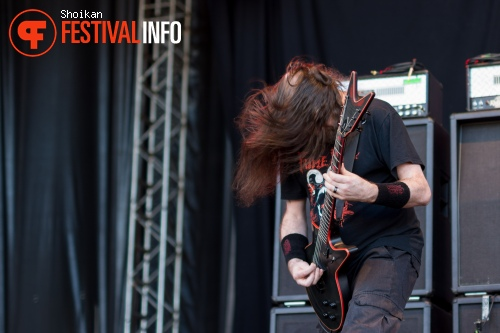 Cannibal Corpse op Into The Grave 2015 foto