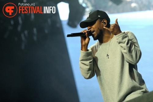 Kendrick Lamar op Lowlands 2015 - zondag foto