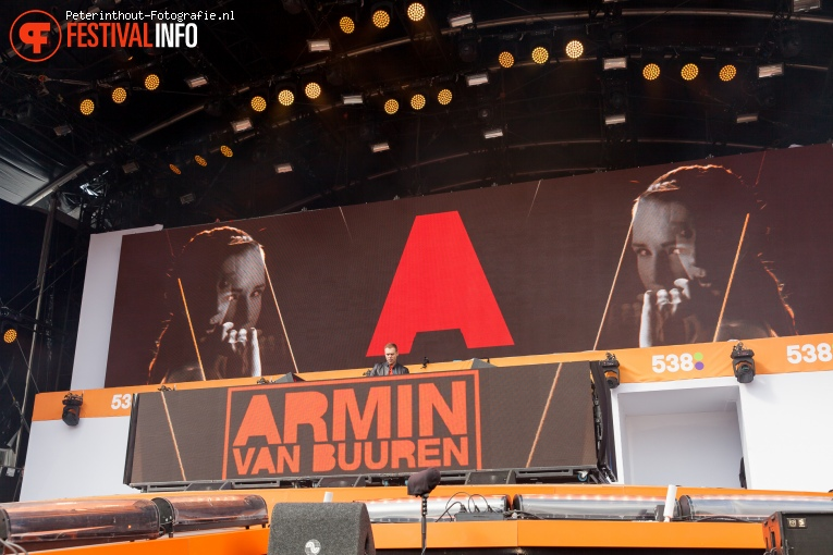 Foto Armin van Buuren op 538 Koningsdag 2016