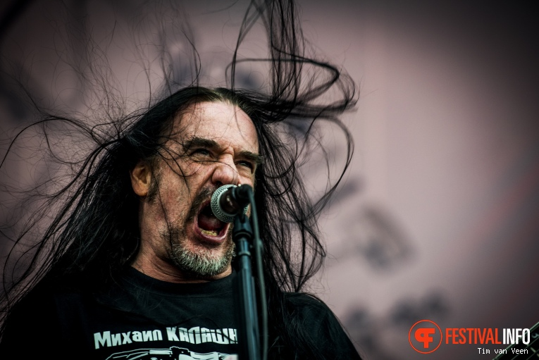 Carcass op Into The Grave 2016 foto