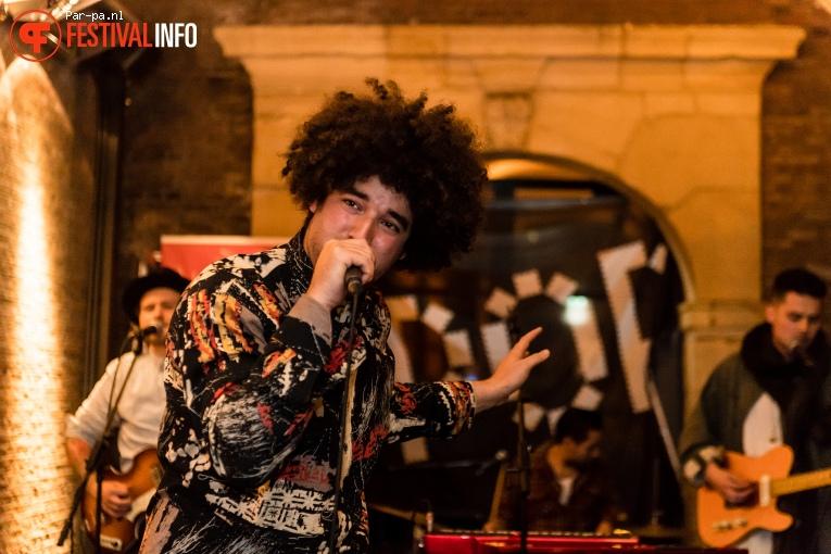 Foto Rilan & The Bombardiers op Popronde Leiden 2016