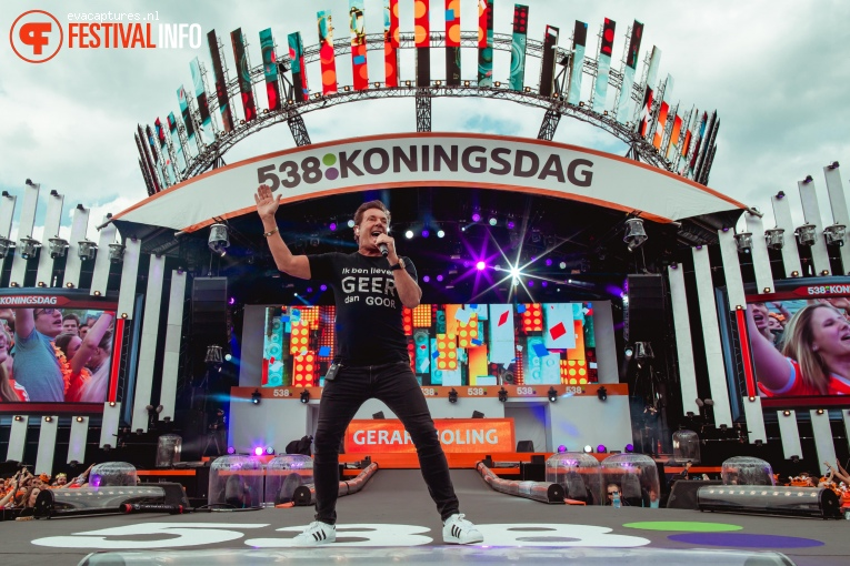 Gerard Joling op 538 Koningsdag 2018 foto