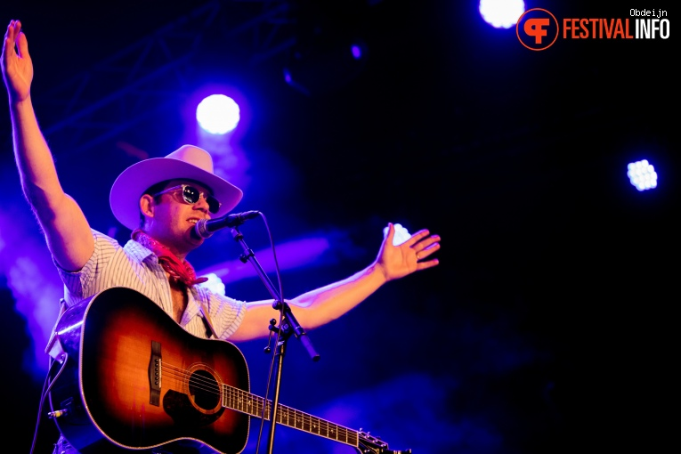 Sam Outlaw op Once in a blue moon festival 2018 foto