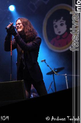 HIM op Pinkpop 2004 za/zo foto