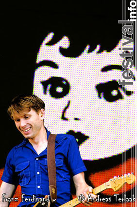 Franz Ferdinand op Pinkpop 2004 ma foto