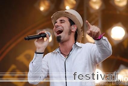 Foto Serj Tankian op Pinkpop 2008