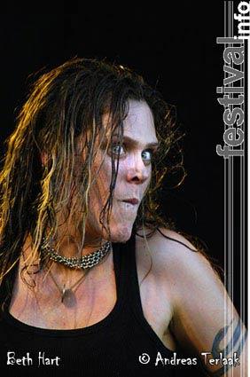 Beth Hart op Parkpop 2004 foto