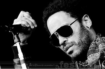 Foto Lenny Kravitz op Rockin' Park 2008