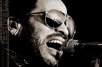 Lenny Kravitz op Rockin' Park 2008 foto