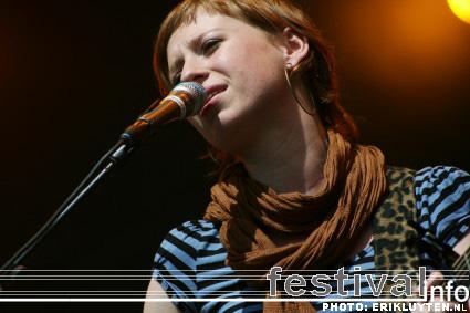 Stephanie Struijk op Bospop 2008 foto