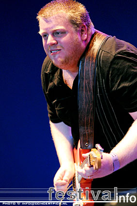 Foto Danny Bryant op Bospop 2008