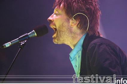 Radiohead op Roskilde 2008 foto