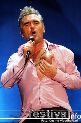 Foto Morrissey op Benicàssim 2008