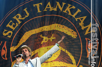 Serj Tankian op Pukkelpop 2008 foto