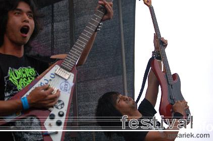 Electric Eel Shock op Geuzenpop 2008 foto