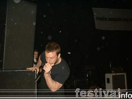The Dillinger Escape Plan op Arnhem Hardcore Meeting 2005 foto