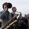 Foto Broken Brass Ensemble op Oerol Festival 2013