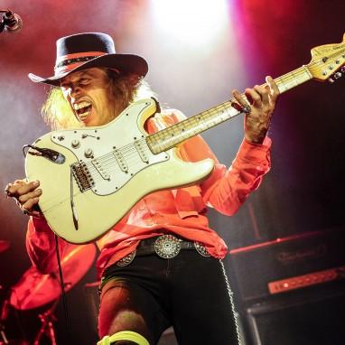 Randy Hansen 50yr Woodstock celebrating 'Jimi Hendrix' plaatje